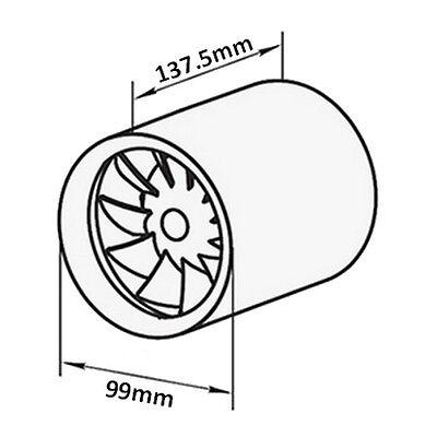 leise wie der Wind Rohreinschubventilator Soundless Turbine Duo 100mm mit 2 Stufen und Schalter stark wie eine Turbine