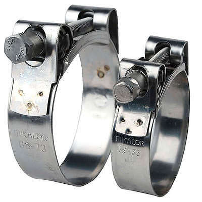 MIKALOR W2 Stainless Steel Hose Clamps / Supra / Exhaust / T Bolt / Marine Clip 3