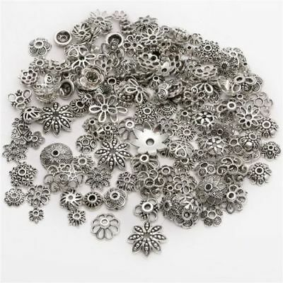 150pcs Mixed Tibet Silver Beads Spacer For Jewelry making European Bracelet 4