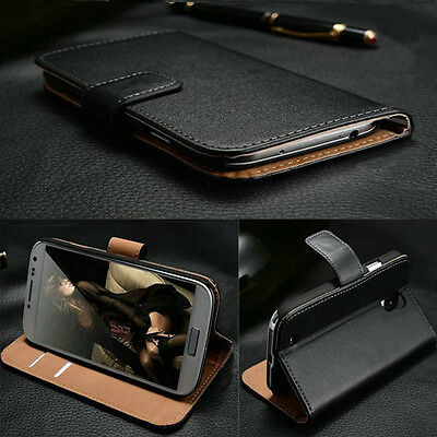 Luxury Genuine Real Leather Flip Case Wallet Cover For Samsung Galaxy S9 S8 S7
