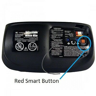 1 of 2free shipping sears craftsman garage door opener remote control part mini red learn button - Garage Opener Remote