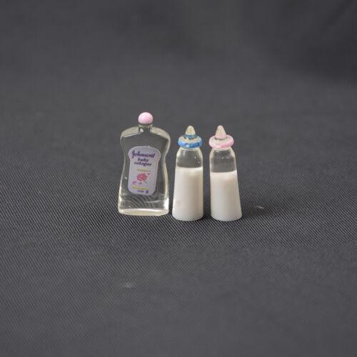 1:12Dollhouse Miniature Toy Baby Milk Bottle Bib Showers Gels 5pcs Home DecFDUS