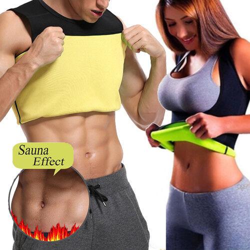Men Neoprene Vest Cami Hot Shaper Gym Women Sauna Sweat Thermal Tank Top Girdles 2