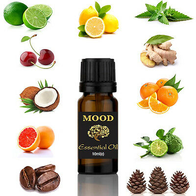 Essential Aromatherapy Oils Natural Pure Organic Oil 10ml Fragrances Therapeutic 9