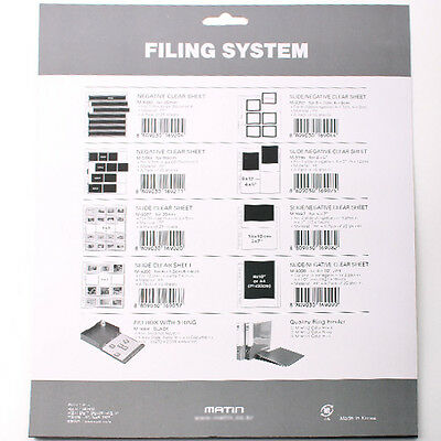 Matin Archival Negative Clear Sheets Sleeves for 60-70mm Films 100pcs