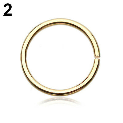 2pcs FAKE NOSE RING HOOP SEPTUM RING CARTILAGE TRAGUS HELIX CONCH DAITH EARRING 10