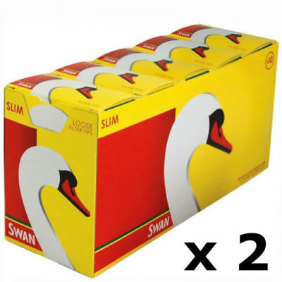 20 Packs x 165 Swan Slim line Filter Tips Slimline - Total 3300 Filter Tips 2