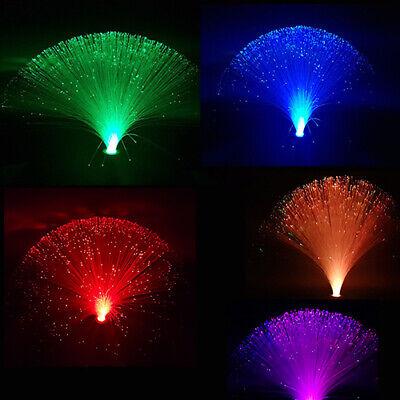 5PCS LED Glasfaser Lampe RGB Farbwechsel Lichtfaser Dekoleuchte Fiberglas bunt