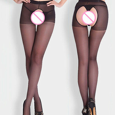 Women Fitness Open Crotch Crotchless Sheer Pantyhose Stockings Tights Salable
