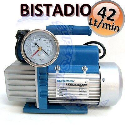 3S POMPA VUOTO BISTADIO 100 LT min con VACUOMETRO OMOLOGATA PER GAS R32 R32