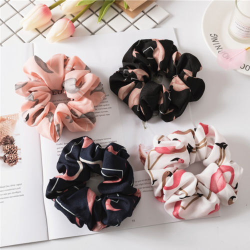 Women Bow Knot Hair Rope Ring Tie Scrunchie Ponytail Holder Accessory Adjustable 5