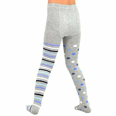 TeeHee Kids Girls Fashion Tights 3 Pair Pack (Multi Dots & Stripes) Leggin