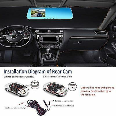 16GB FULL HD in Car Rear View Mirror CCTV Security Dual Camera Recorder DASH CAM 7