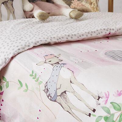 ADAIRS KIDS Winter Castle Princess Deer COT (Jnr Bed) QUILT COVER SET BNIP