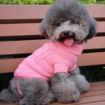 Popular Pet Cat Dog Knitted Jumper Sweater Winter Puppy Warm Coat Jacket Clothes 7