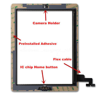 OEM For iPad 2 3 4 Air Mini 1 2 3 Touch Screen Digitizer Replacement w/ Adhesive 5
