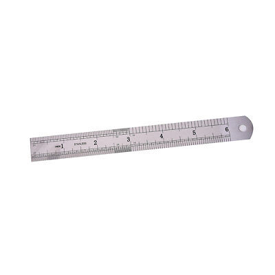 1PC Metric Rule Precision Double Sided Measuring Tool  15cm Metal Ruler HV 4