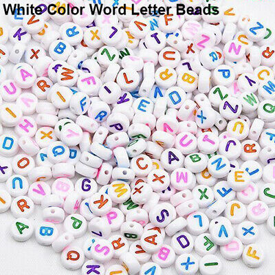 100Pcs Spacer Acrylic Beads Cube Alphabet Letter Bracelet Jewelry Making DIY HOT 5