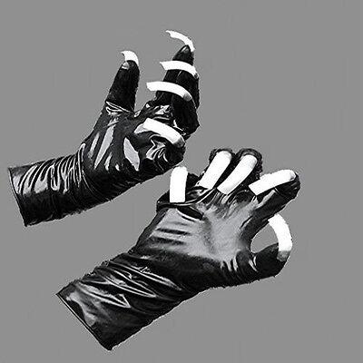Gummi Latex Rubber Handschuhe schwarz mit roten - red Krallen Größe x-large 12