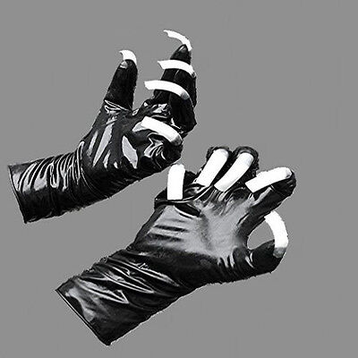 Latex Handschuhe schwarz mit roten extremo Krallen Sonderanfertigung x-large 12