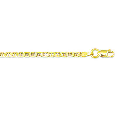 "14kt Solid Yellow Gold Mariner Link Pendant Chain Necklace 1.7 mm 20"" 2.2 grams 4"