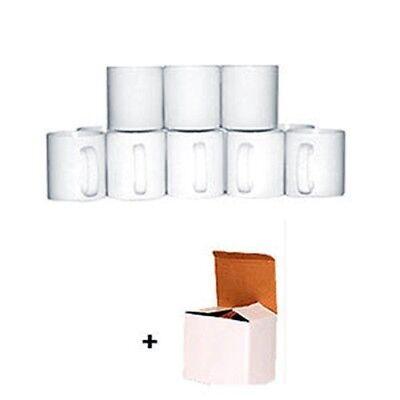 Sublimation Mugs 11oz 36 White Large Handle ORCA Coated Heat Press +Gift Boxes!! 2