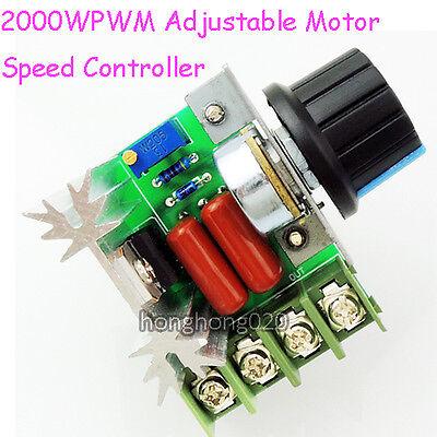 2000W AC 50-220V Regulador De Voltaje PWM Motor Controlador De Velocidad Luz 2