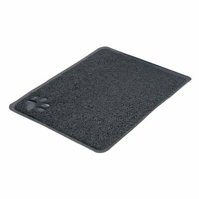 Cat Litter Tray Toilet Clean Pan Mat Grey With Paw Large 40382 2