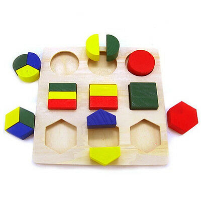Children Baby Educational Wood Puzzle Shape Classification Early Learning Toys 3