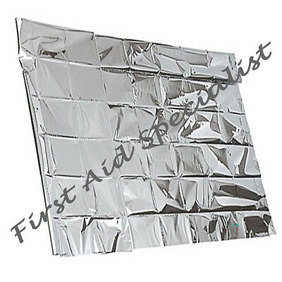 Disposable Heat Retaining Reflective Thermal Space Silver Sensory Foil Blanket