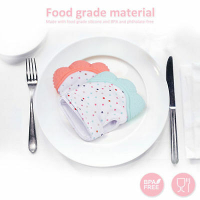 Silicone Baby Mitts Teething Mitten Teething Glove Candy Wrapper Sound Teether 10