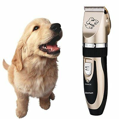 Pet Shave Clipper Hair Low Noise Cordless Electric Dog Cat Grooming Trimming Kit