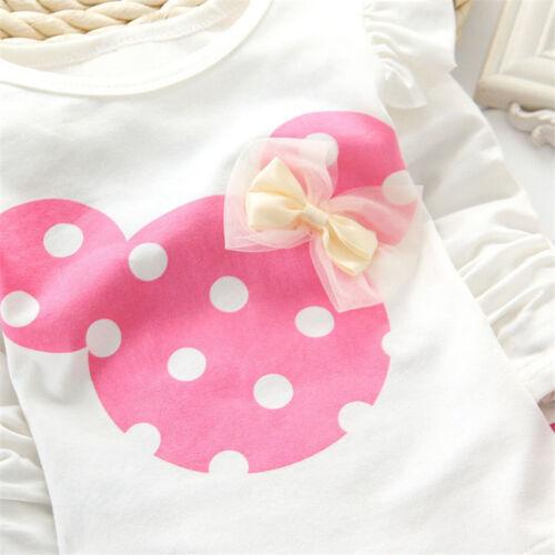 Kinder Kleidung Baby Mädchen Winter Karikatur Sweatshirt Hose 2Tlg Outfit Set 9