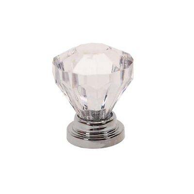 10 pcs Clear Crystal Drawer Pull Knob Cabinet Dresser Cupboard Bin Handles 3