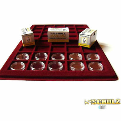 (ProSchulz) Coin Capsules ALL INTERNAL SIZES 14 mm to 42mm  x 10, 30, 50, 100pcs 4