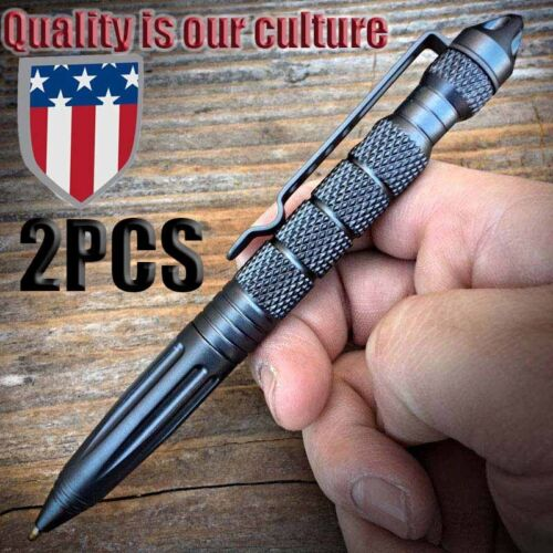 "2*6""Aluminum Tactical Pen Glass Breaker Writing Survival Outdoor From USA 9"