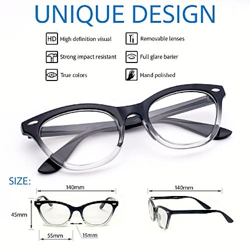 "Cat Eye  ""Ombre"" Women Eyeglasses Tortoise Two Tone Gradient Shadz GAFAS 3"
