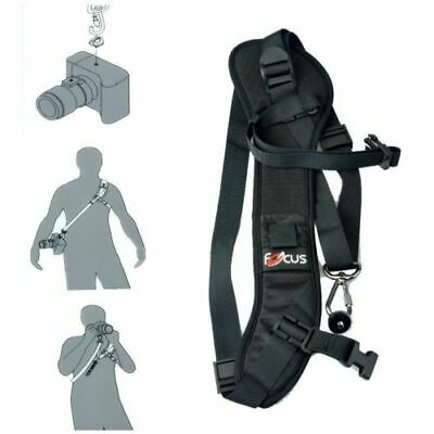 Focus F-1 Quick Rapid Sling Belt Neck Shoulder Strap For DSLR SLR Camera Black 7