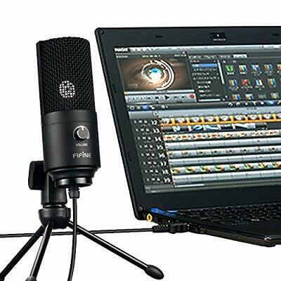 USB-Mikrofon Kondensatormikrofon für PC Laptop Aufnahmemikrofon Kardioid Studio 9
