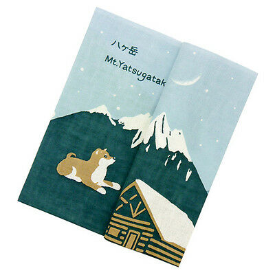 Japanese traditional towel TENUGUI  DOG  SHIBA MOUNTAIN NEW COTTON MADE IN JAPAN 4
