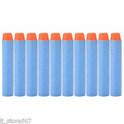 100x Bullet Darts For NERF Kids Toy Gun N-Strike Round Head Blasters #S Sky Blue 6