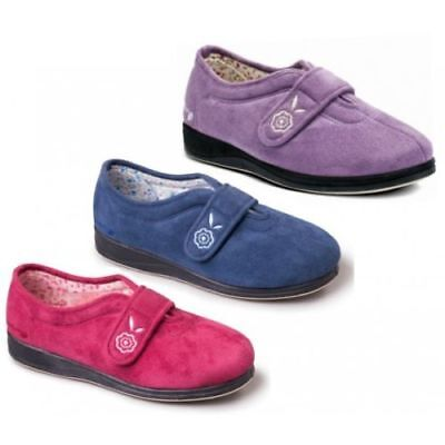 Womens Ladies Slippers Padders Soft Insole Slip On Purple Grey Black Pink UK 3-9