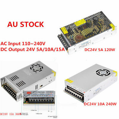 AC 110-240V TO DC 12V/24V 5A/10A/15A/20A/30A Transformer Regulated Power Supply 3