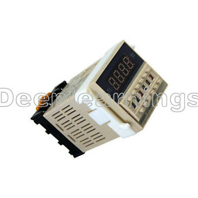 ... AC 220V DH48S-S Digital Precision Programmable Time Delay Relay Socket Base NEW 4