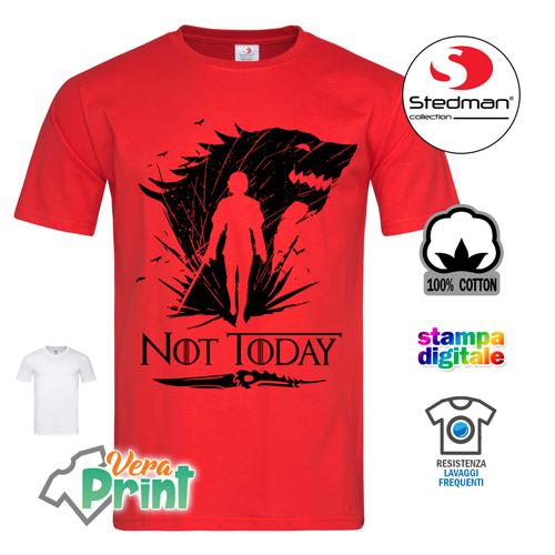 T-Shirt Divertente Uomo Maglietta con Stampa Ironica Game of Thrones Daenerys Dracarys