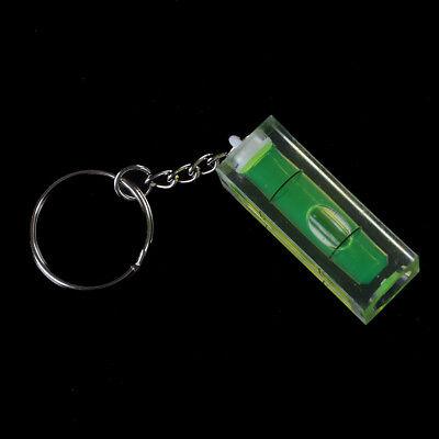Mini burbuja nivel llavero llave herramienta DIY anillo gadget novedad regalo 5