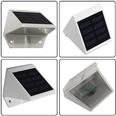 4 LED Solar Powered Stairs Fence Garden Security Lamp Outdoor Waterproof Light 2