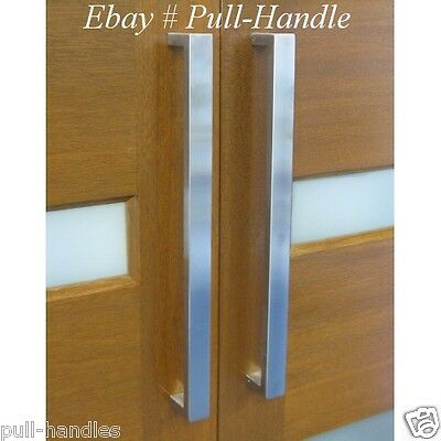 SQUARE Pull Long Door Handle Entry Modern Pulls- Stainless Steel ...