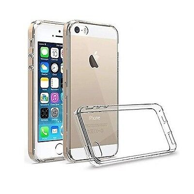For iPhone SE Case Crystal Clear Rubber Shockproof Protective iPhone 5 5s Cover 4