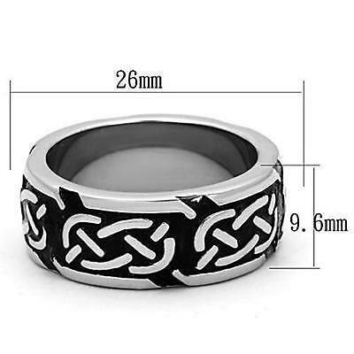 9mm Celtic Rope Ring Stainless Steel 316L Mens Womens Wedding Fashion Eternity 2